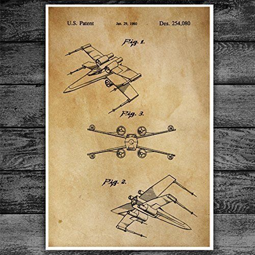 Amazon.com: Star Wars X Wing Starfighter Star Wars Poster, Star Wars Print, X Wing Poster, Star Wars Art, Star Wars Ships, Patent Poster: Handmade