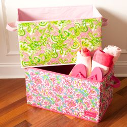 Lilly Pulitzer Organizational Bin - Large $32
