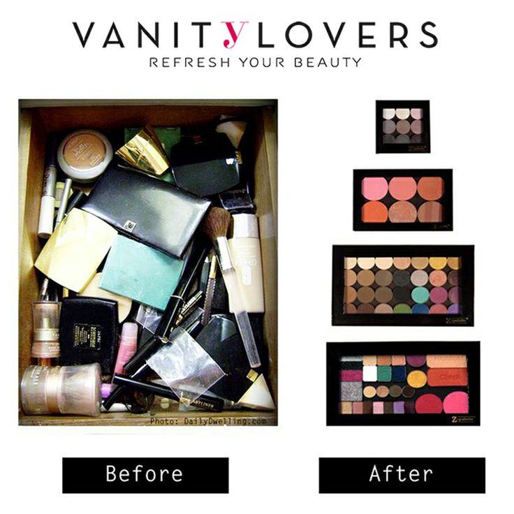Meglio prima o dopo? Sicuramente DOPO! Le ZPalette le trovi su VanityLovers.com http://www.vanitylovers.com/brands/zpalette.html?utm_source=pinterest.com&utm_medium=post&utm_content=vanity-zpalette&utm_campaign=pin-vanity