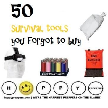 50 survival tools you FORGOT to buy: http://happypreppers.com/survival-items.html