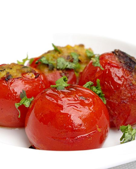 Tomates farcies à l'indienne - Pankaj blog - Vegan recipe