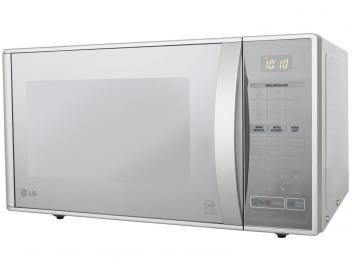 Micro-ondas LG Easy Clean MH7053R 30L - com Grill e 20 Receitas Pré-Programadas - Prata