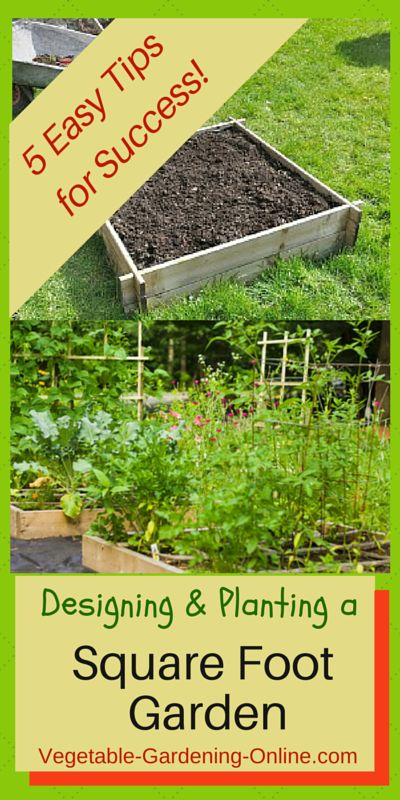 Use our free online Vegetable Garden Planner to design your square foot garden. We have all the information you need to successfully plan and build your garden; from zone chart, planting guide, and free worksheets to great tips to prevent mistakes in your garden!