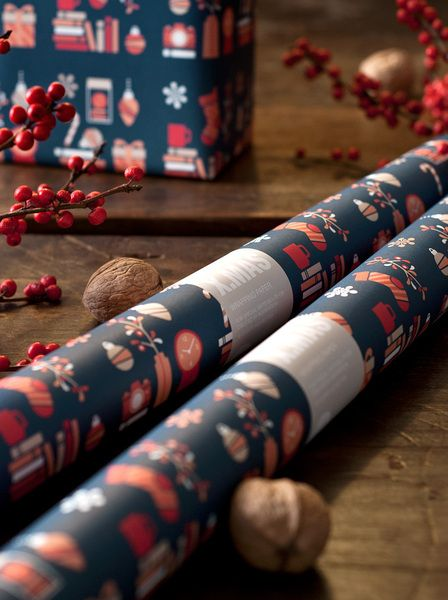 X.MAS WRAPPING PAPER BLUE from GOODS AND BETTER by DaWanda.com