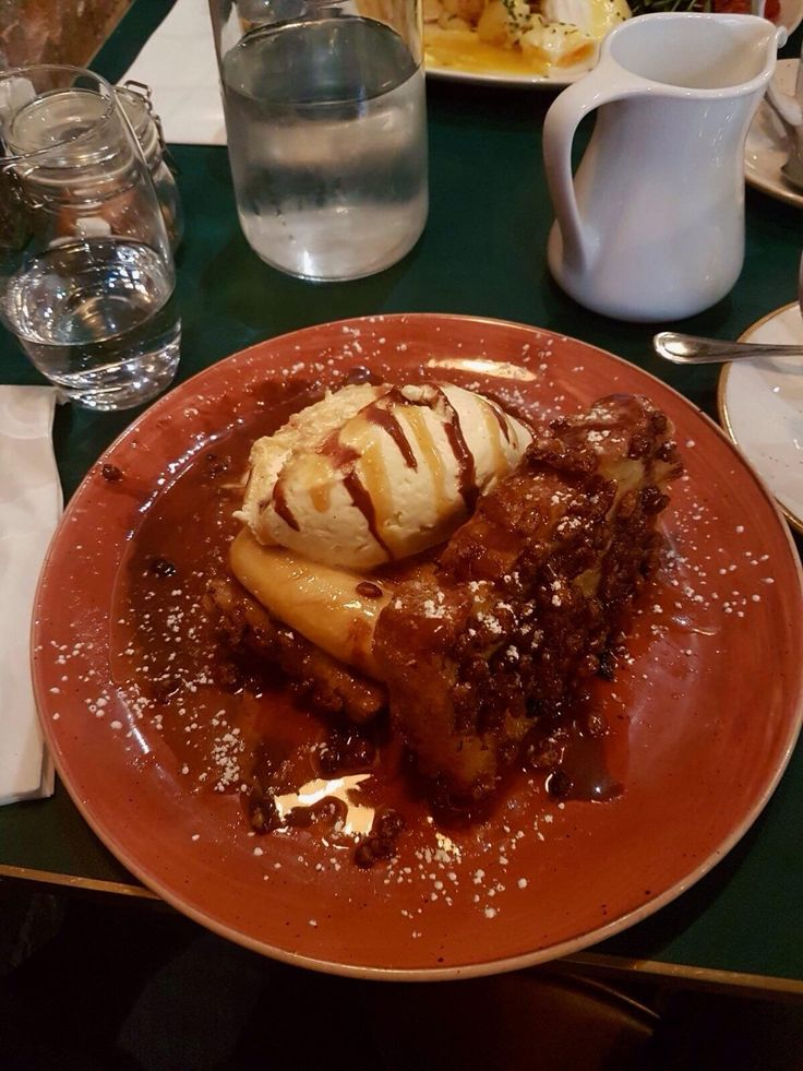 [I Ate] Coco Pops French Toast w/ caramelised bananas & marscapone whipped cream.