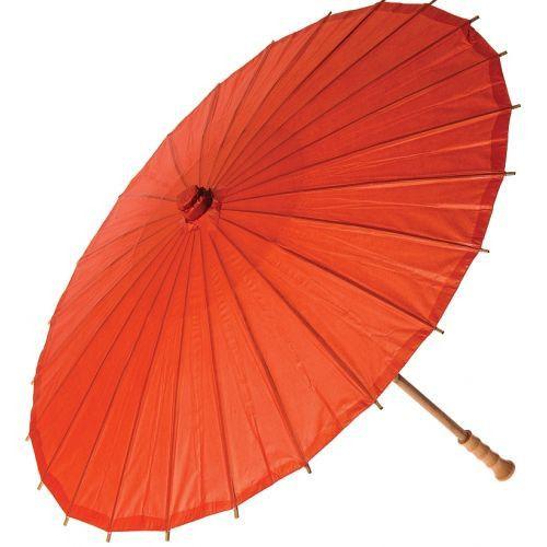 32 Inch Premium Paper Parasol - Oranges