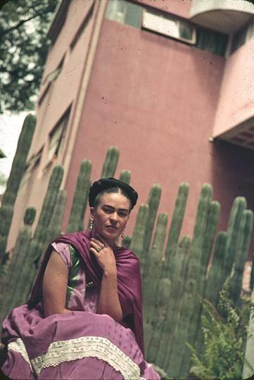 Frida Kahlo ca. 1940 Color transparency, chromogenic development (Kodachrome) 24x36mm (35mm film in slide mount) Gift of Mrs. Nickolas Muray 1974.0241.3255