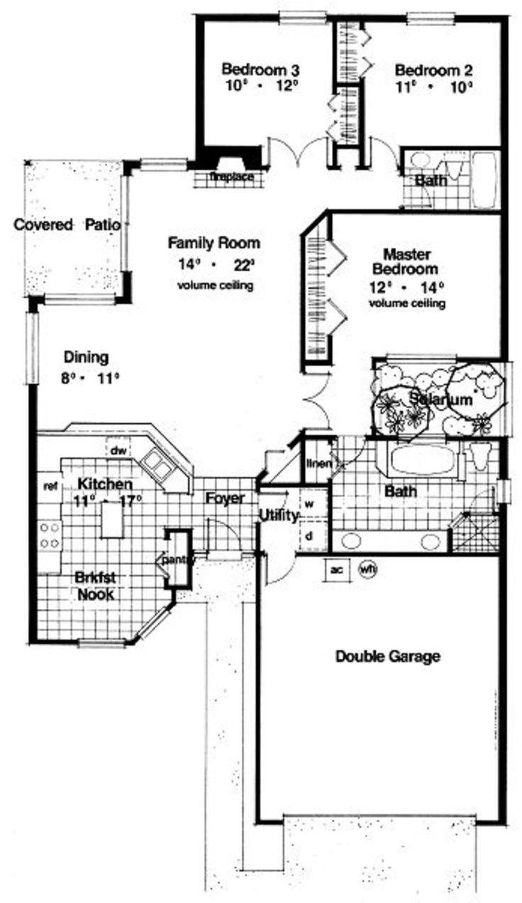 66 best florida house plans images on pinterest floor plans modern style house plan 3 beds 2 baths 1576 sq ft plan 417