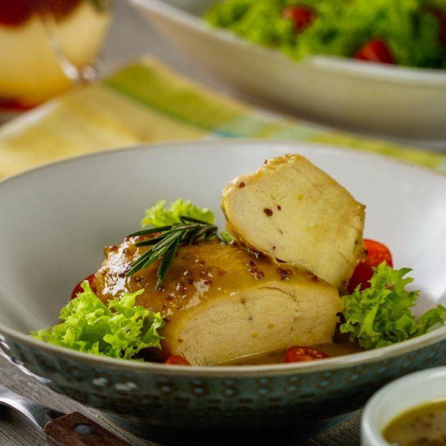 Pechugas De Pollo Con Salsa De Mostaza Y Miel Receta Salsa De Mostaza Y Miel Pechuga De Pollo Pollo En Salsa