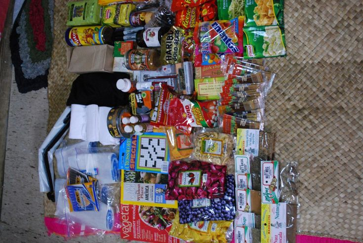 these were the contents of the first 2 care packages I ever got here in Fiji... absolutely spectacular!
