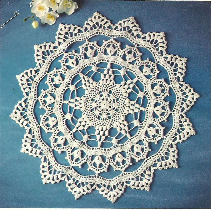 Crochet Patterns And Instructions : Clarice Doily crochet PATTERN INSTRUCTIONS