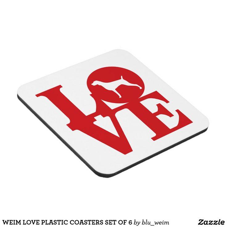 WEIM LOVE PLASTIC COASTERS SET OF 6
