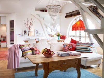 White bohemian living room vintage and stylish home for Decoracion bohemia vintage