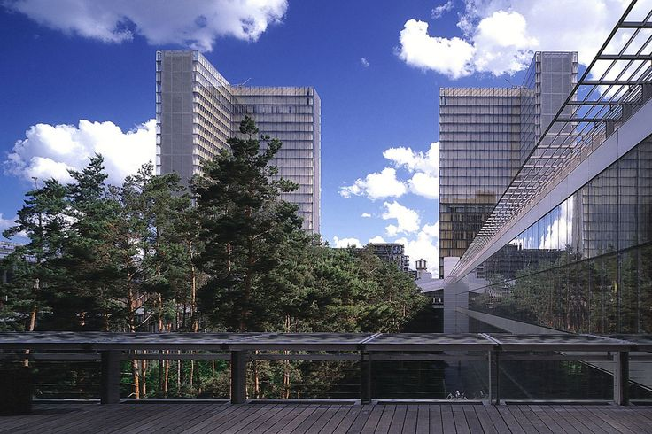 Dominique Perrault Architecture: National Library of France - the garden, Paris (1989-1995)