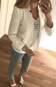 Witte blazer - Wish boutique