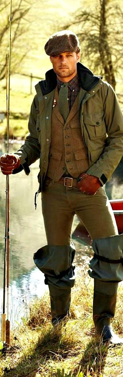 Country Gentleman - Ralph Lauren. A guy who has never ever set a fly to water ever. Can you imagine heading to the stream in this get up?? - I'll go with him!
