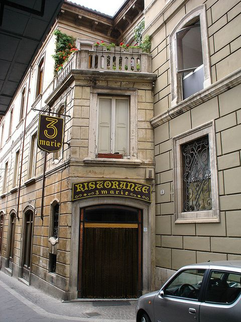 Famous Restaurant Tre Marie L'Aquila Italy