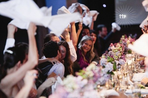 Waving the white napkin, and 7 other things you see at Deaf weddings | Offbeat Bride