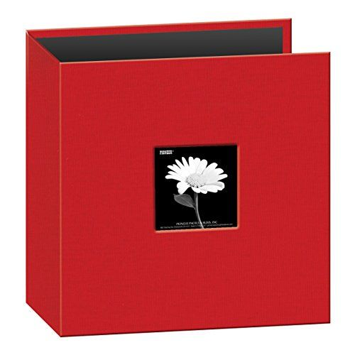8 1/2 #inch by 11 inch D-ring fabric frame front memory book binder. Uses refill RW85.