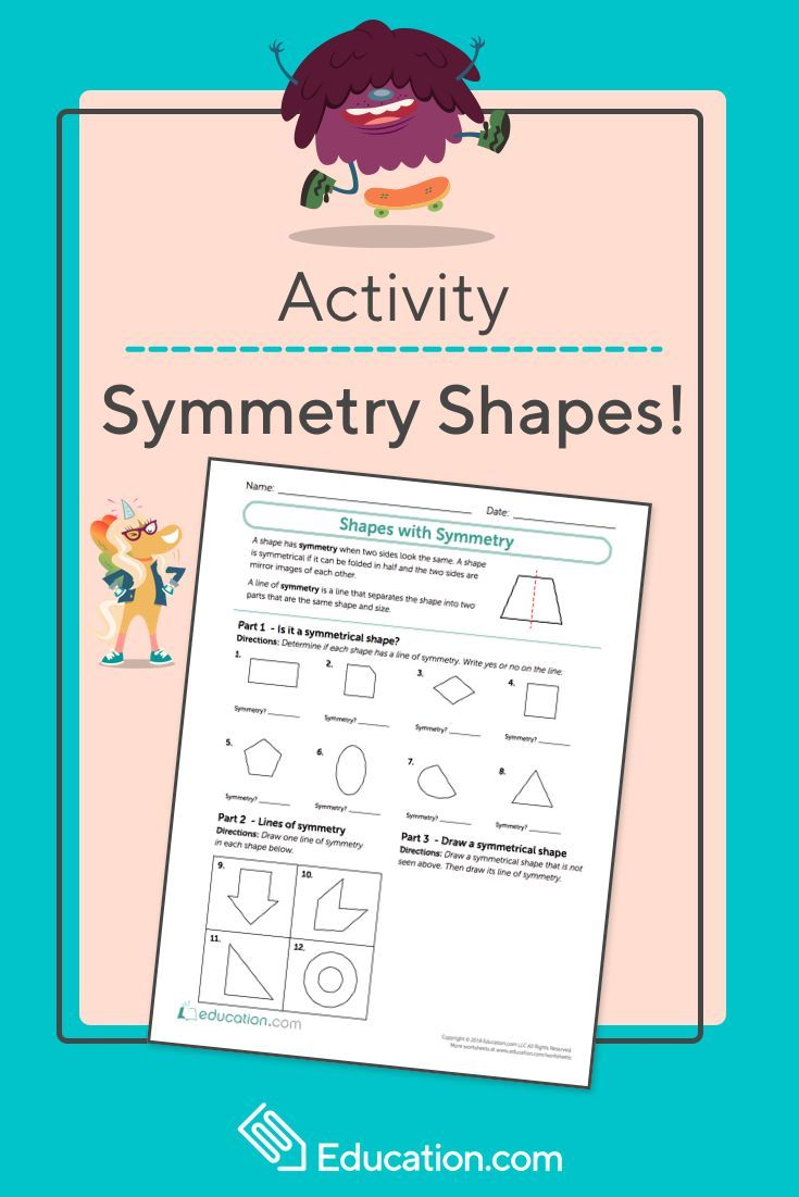 Shapes With Symmetry Worksheet Education Com Symmetry Worksheets Elementary Activities Symmetry [ 1101 x 735 Pixel ]