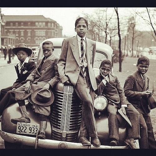 children, vintage african american,