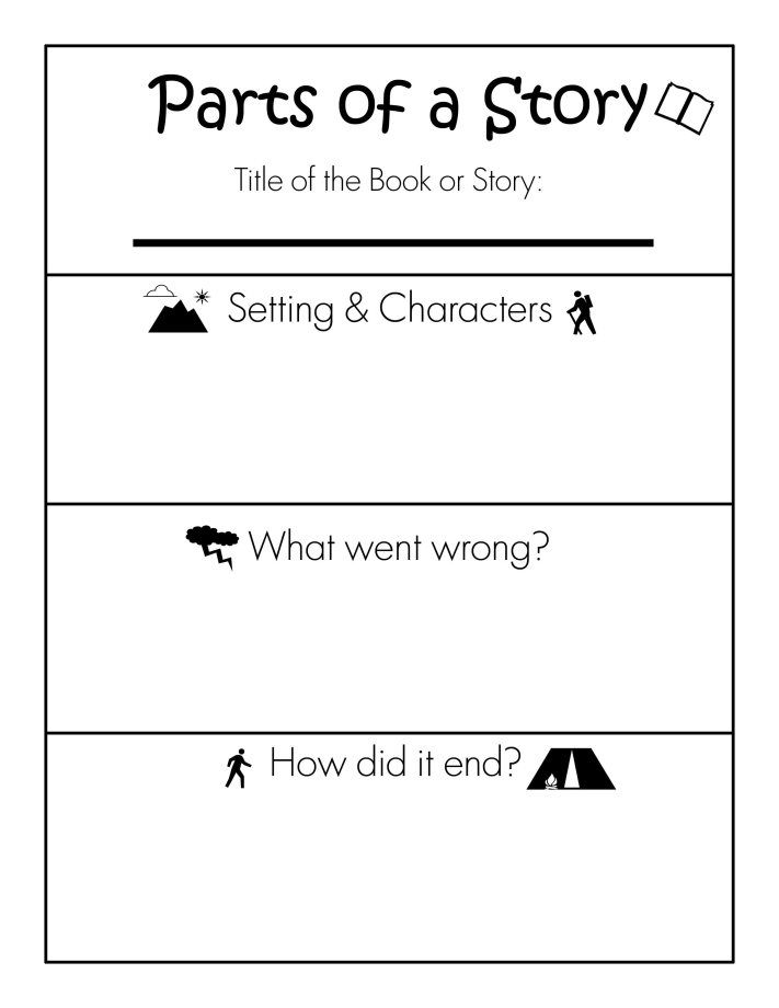 Parts Of A Story Free Printable Worksheet Home School Stuff Kindergarten Worksheets