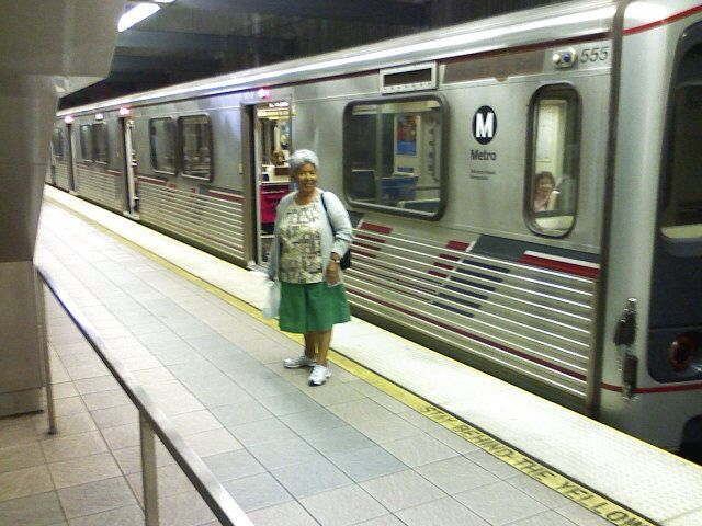 The Red Line is a heavy rail subway line running between Downtown Los Angeles via the districts of Hollywood and Mid-Wilshire to North Hollywood within Los Angeles where it connects with the Metroliner Orange line (bus rapid transit) service for stations to the Warner Center in Woodland Hills and Chatsworth.