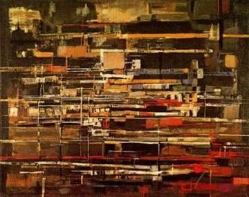 Inverno (162x146 cm, 1960) óleo de Vieira da Silva (1908-192