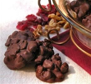 Autumn Chocolates: cranberries, walnuts and dark chocolate
