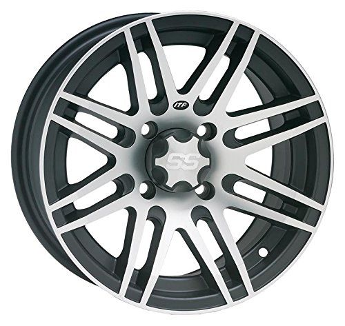 ITP SS316 Machined/Matte Black ATV Wheel Front/Rear 14x7 (4/110) - (5+2) [14SS900]. For product info go to:  https://www.caraccessoriesonlinemarket.com/itp-ss316-machinedmatte-black-atv-wheel-frontrear-14x7-4110-52-14ss900/