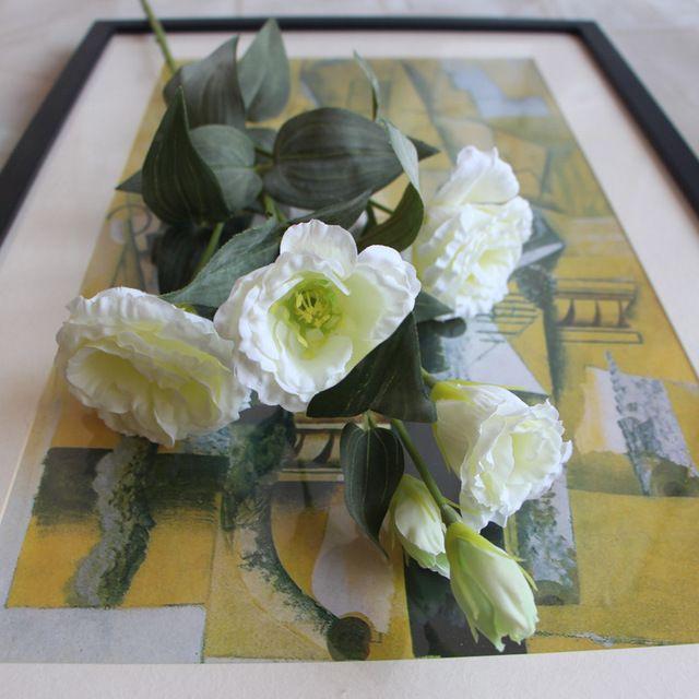 Европейская Весна Искусственные Цветы 6 Голов Поддельные Эустома Lisianthus Свадьбы Рождество Дома Декоративные