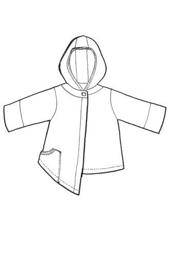 asymmetrical sweatshirt cardi printed