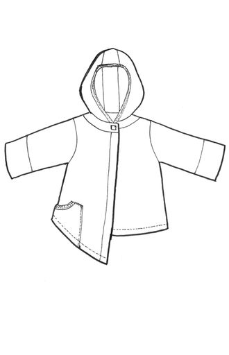 asymmetrical sweatshirt cardi printedBluefish