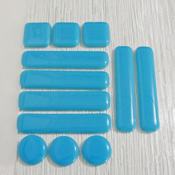 fused glass drawer pull cabinet pulls light blue home by sljglass