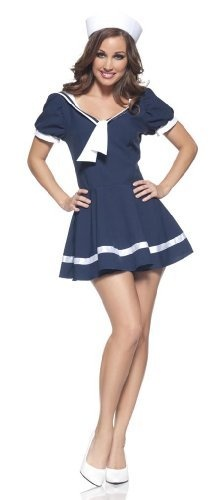 Sassy Sailor Halloween costume.  Stuff on Amazon is so much cheaper!
