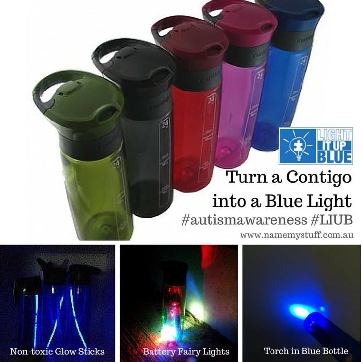 Light it up blue for Autism Awareness - how to make a blue light in an easy way