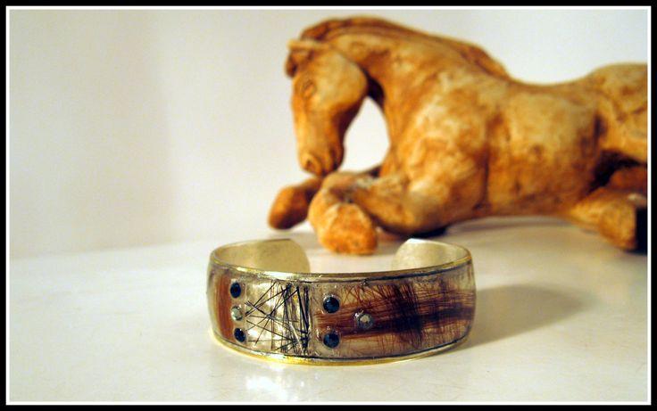 Horsehair open bracelet de la boutique MPierArtEquin sur Etsy
