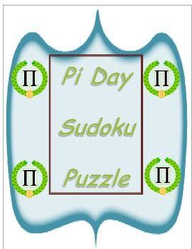 Celebrate Pi Day Sudoku Puzzle