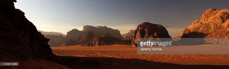 Wadi Rum, where the spectacular desert scenes of David Lean's epic film 'Lawrence of Arabia' were filmed, southern Jordan.