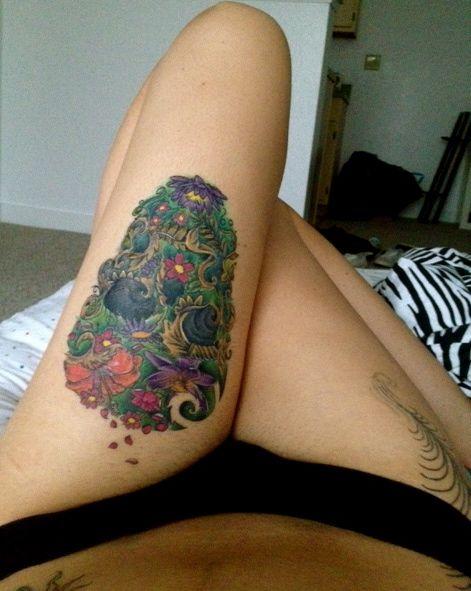 102 best matryoshka sugar skull tattoo images on pinterest for Pretty skull tattoos