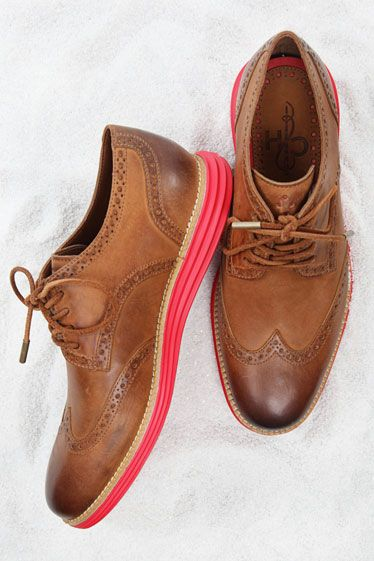 Have always loved the comfort of Cole Haan - this particular one combines the classic wingtip with some fun on the sole!
