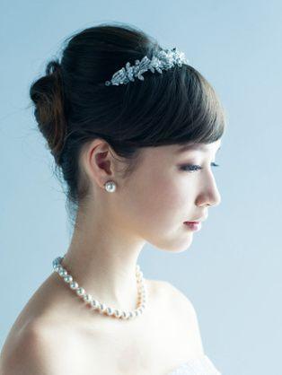 ウェディングドレス 髪型 ティアラ , Yahoo!検索(画像)