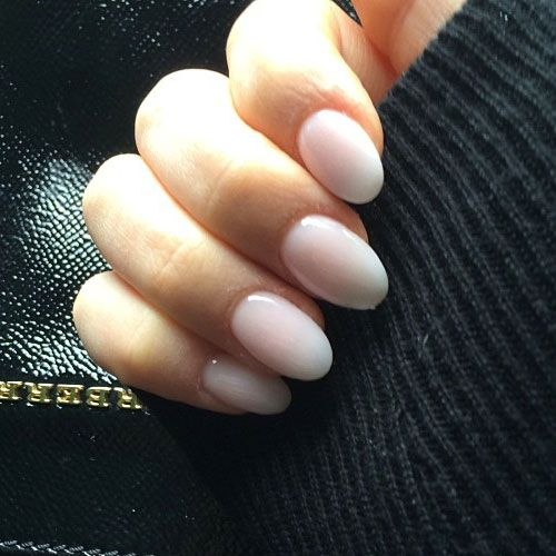 Perrie Edwards' white nail polish White, Oval,