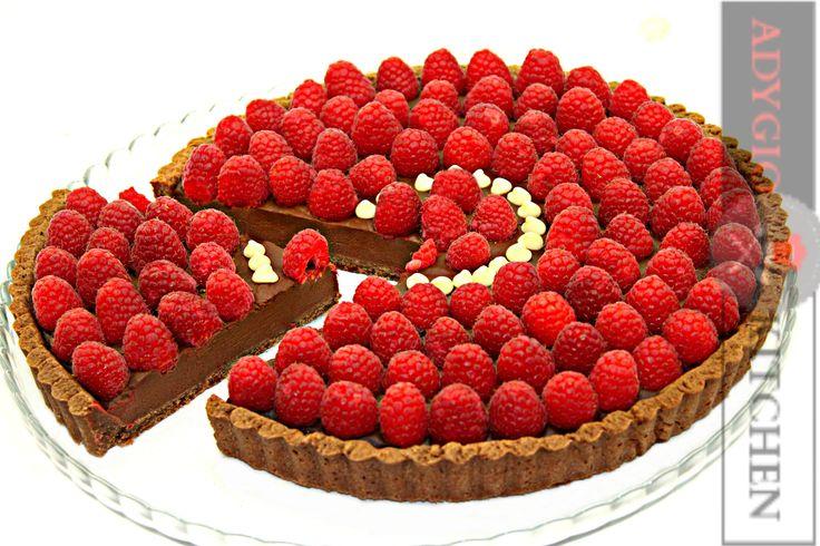 Tarta cu ciocolata si zmeura   Adygio Kitchen #adygio #chocolatetart