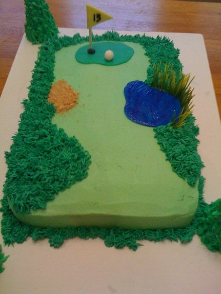 Golf Course Cake   kelly and molly made this golf themed birthday cake over the weekend ...