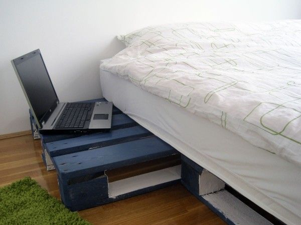 Einfache Geeksters Palettenbett-Idee