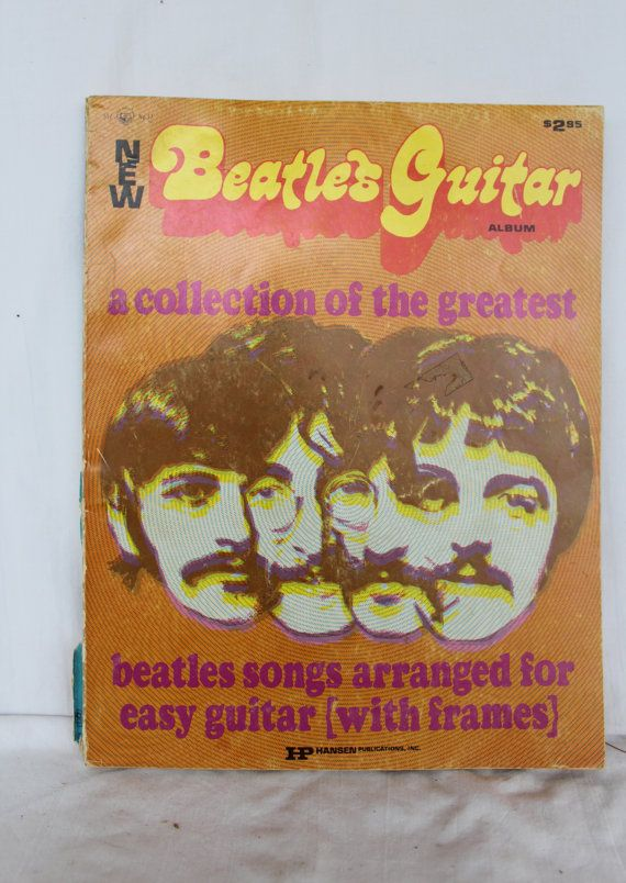 Big Notes Beatles Guitar music book as is 1970's book.