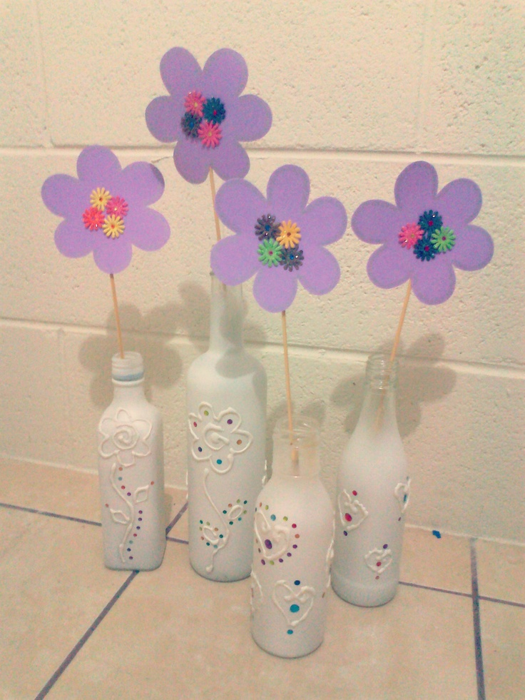 Botellas de vidrio decoradas botellas de vidrio pinterest - Botellas de cristal decoradas ...