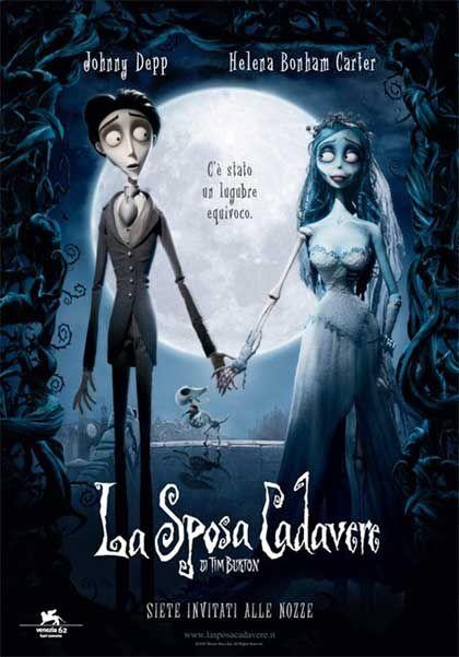 La sposa cadavere (Un film di Tim Burton. Con Johnny Depp, Helena Bonham Carter - USA 2005)