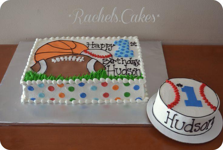 Sports theme sheet cake